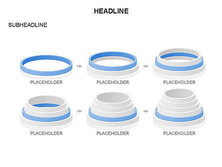 Pyramid of Rings, Slide 20, 03426, Stage Diagrams — PoweredTemplate.com