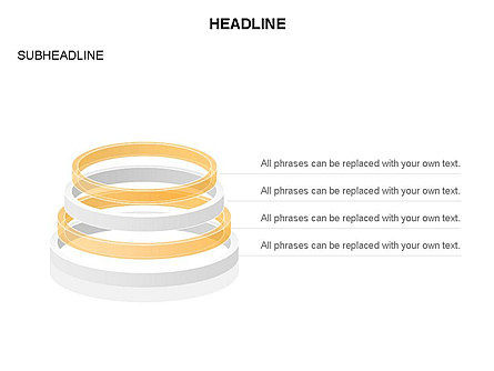 Pyramid of Rings, Slide 6, 03426, Stage Diagrams — PoweredTemplate.com