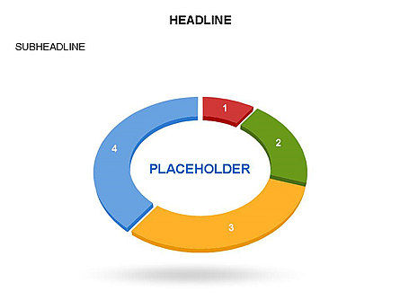 Sector Segment and Donut, Slide 12, 03427, Pie Charts — PoweredTemplate.com