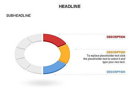 Sector Segment and Donut, Slide 16, 03427, Pie Charts — PoweredTemplate.com