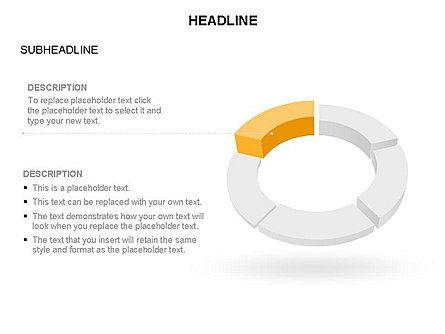 Sector Segment and Donut, Slide 28, 03427, Pie Charts — PoweredTemplate.com