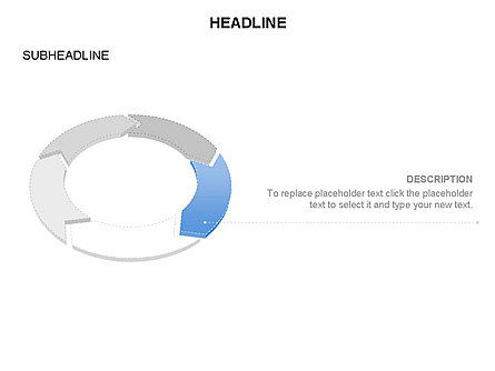 Sector Segment and Donut, Slide 32, 03427, Pie Charts — PoweredTemplate.com