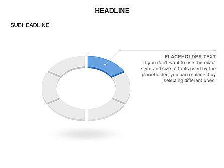 Sector Segment and Donut, Slide 5, 03427, Pie Charts — PoweredTemplate.com