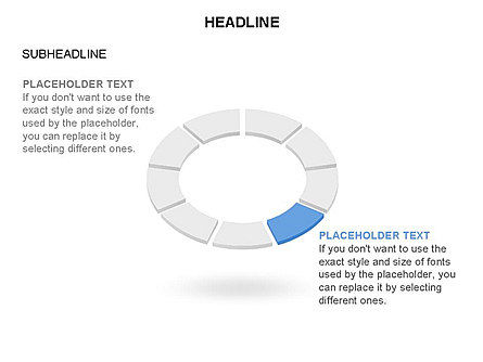 Sector Segment and Donut, Slide 8, 03427, Pie Charts — PoweredTemplate.com