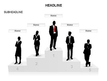 Winners Podium Diagram, Slide 10, 03429, Organizational Charts — PoweredTemplate.com