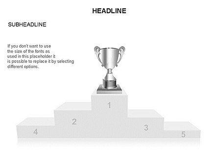 Winners Podium Diagram, Slide 11, 03429, Organizational Charts — PoweredTemplate.com