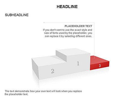 Winners Podium Diagram, Slide 14, 03429, Organizational Charts — PoweredTemplate.com