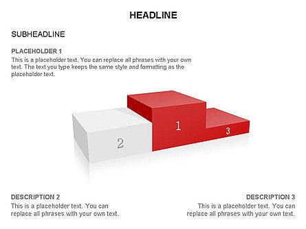 Winners Podium Diagram, Slide 15, 03429, Organizational Charts — PoweredTemplate.com