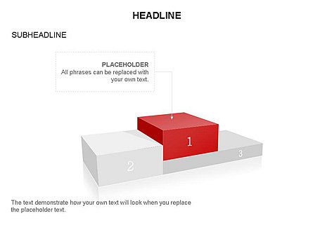 Winners Podium Diagram, Slide 16, 03429, Organizational Charts — PoweredTemplate.com