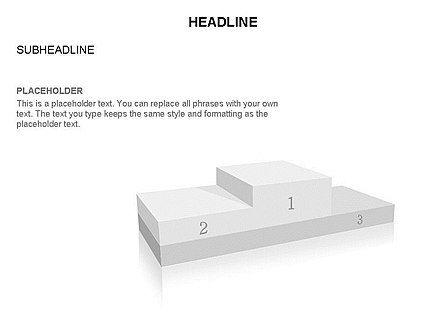 Winners Podium Diagram, Slide 18, 03429, Organizational Charts — PoweredTemplate.com