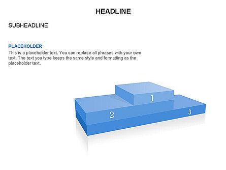 Winners Podium Diagram, Slide 19, 03429, Organizational Charts — PoweredTemplate.com