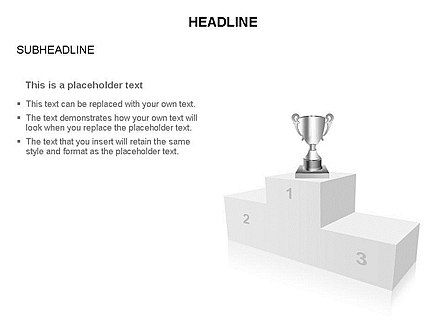 Winners Podium Diagram, Slide 2, 03429, Organizational Charts — PoweredTemplate.com