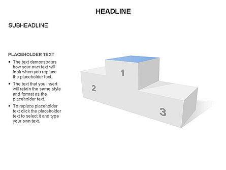 Winners Podium Diagram, Slide 20, 03429, Organizational Charts — PoweredTemplate.com
