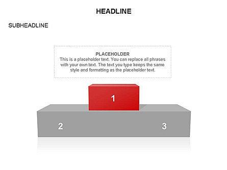 Winners Podium Diagram, Slide 23, 03429, Organizational Charts — PoweredTemplate.com