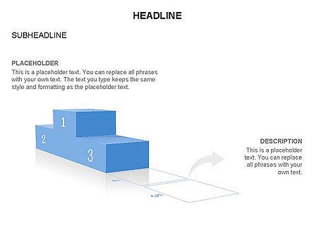 Winners Podium Diagram, Slide 24, 03429, Organizational Charts — PoweredTemplate.com