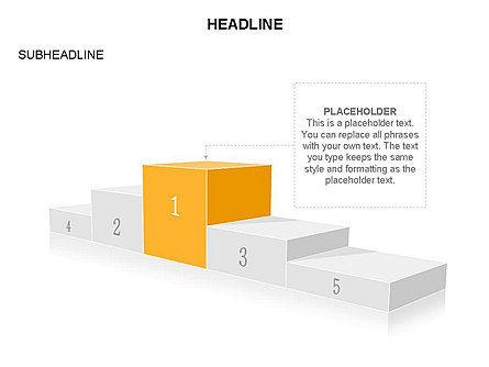Winners Podium Diagram, Slide 26, 03429, Organizational Charts — PoweredTemplate.com