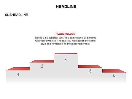 Winners Podium Diagram, Slide 27, 03429, Organizational Charts — PoweredTemplate.com