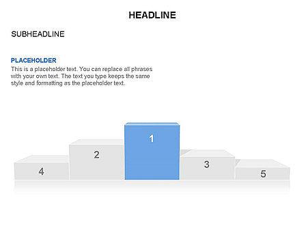 Winners Podium Diagram, Slide 28, 03429, Organizational Charts — PoweredTemplate.com