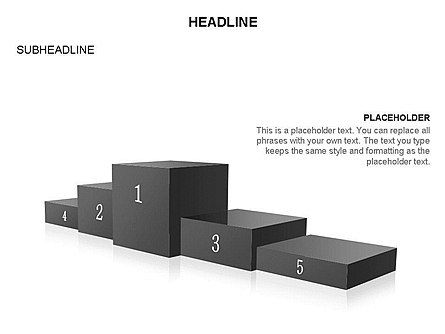 Winners Podium Diagram, Slide 29, 03429, Organizational Charts — PoweredTemplate.com