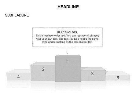 Winners Podium Diagram, Slide 31, 03429, Organizational Charts — PoweredTemplate.com