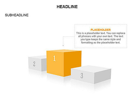 Winners Podium Diagram, Slide 33, 03429, Organizational Charts — PoweredTemplate.com