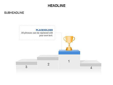 Winners Podium Diagram, Slide 34, 03429, Organizational Charts — PoweredTemplate.com