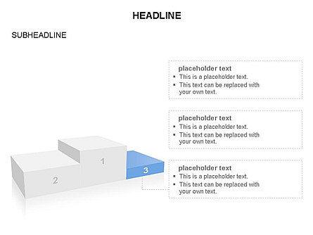 Winners Podium Diagram, Slide 6, 03429, Organizational Charts — PoweredTemplate.com