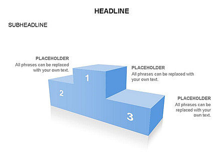 Winners Podium Diagram, Slide 7, 03429, Organizational Charts — PoweredTemplate.com