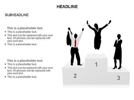 Winners Podium Diagram, Slide 8, 03429, Organizational Charts — PoweredTemplate.com