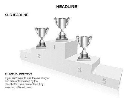 Winners Podium Diagram, Slide 9, 03429, Organizational Charts — PoweredTemplate.com