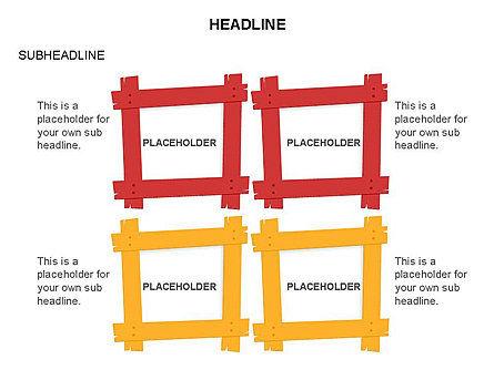 Wooden Board Frames, Slide 15, 03430, Shapes — PoweredTemplate.com