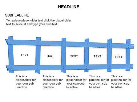 Wooden Board Frames, Slide 16, 03430, Shapes — PoweredTemplate.com
