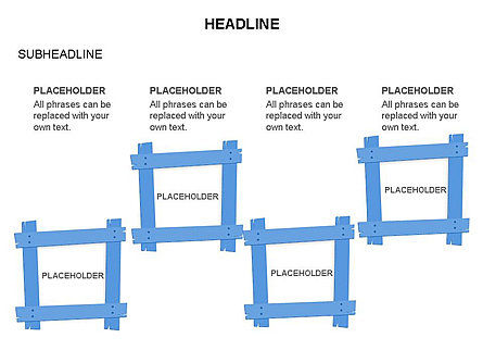 Wooden Board Frames, Slide 17, 03430, Shapes — PoweredTemplate.com