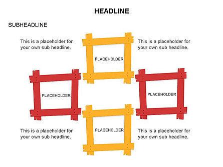 Wooden Board Frames, Slide 18, 03430, Shapes — PoweredTemplate.com