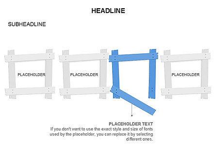 Wooden Board Frames, Slide 19, 03430, Shapes — PoweredTemplate.com