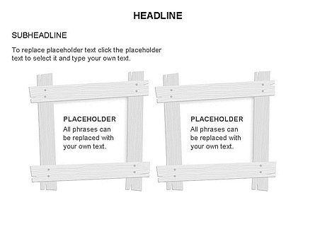 Wooden Board Frames, Slide 23, 03430, Shapes — PoweredTemplate.com