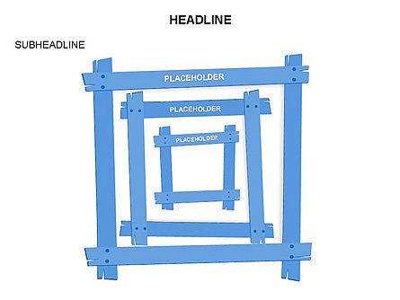 Wooden Board Frames, Slide 26, 03430, Shapes — PoweredTemplate.com