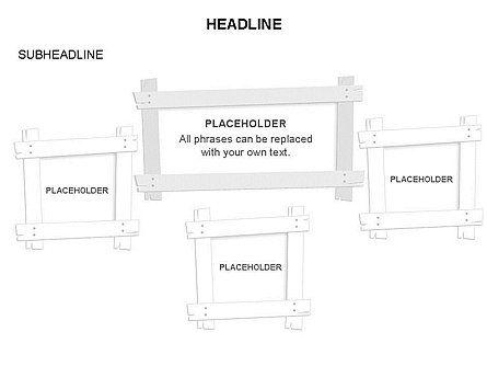 Wooden Board Frames, Slide 32, 03430, Shapes — PoweredTemplate.com