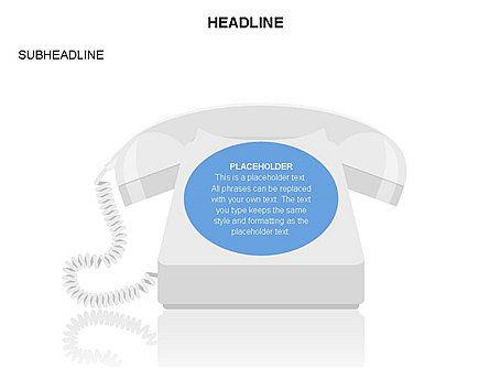 Old-fashioned Phone Handset, Slide 10, 03433, Timelines & Calendars — PoweredTemplate.com