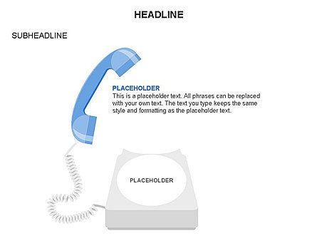 Old-fashioned Phone Handset, Slide 11, 03433, Timelines & Calendars — PoweredTemplate.com