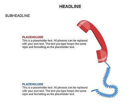 Old-fashioned Phone Handset, Slide 13, 03433, Timelines & Calendars — PoweredTemplate.com