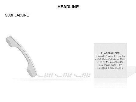Old-fashioned Phone Handset, Slide 14, 03433, Timelines & Calendars — PoweredTemplate.com