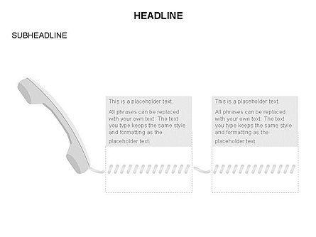 Old-fashioned Phone Handset, Slide 17, 03433, Timelines & Calendars — PoweredTemplate.com