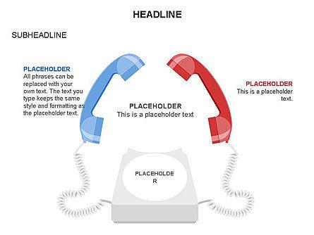 Old-fashioned Phone Handset, Slide 19, 03433, Timelines & Calendars — PoweredTemplate.com