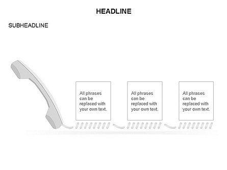 Old-fashioned Phone Handset, Slide 2, 03433, Timelines & Calendars — PoweredTemplate.com