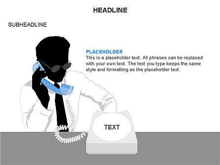 Old-fashioned Phone Handset, Slide 25, 03433, Timelines & Calendars — PoweredTemplate.com