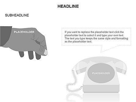 Old-fashioned Phone Handset, Slide 27, 03433, Timelines & Calendars — PoweredTemplate.com