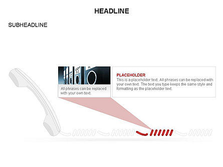 Old-fashioned Phone Handset, Slide 8, 03433, Timelines & Calendars — PoweredTemplate.com