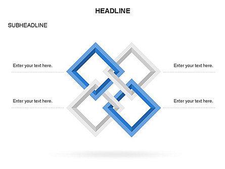 Rhombus Diagram Collection, Slide 22, 03435, Business Models — PoweredTemplate.com