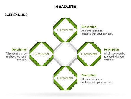 Rhombus Diagram Collection, Slide 24, 03435, Business Models — PoweredTemplate.com